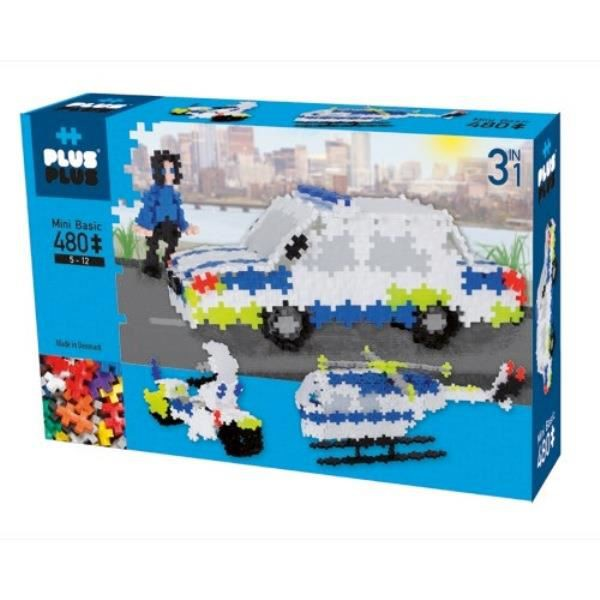PLUS PLUS BOX  MINI  BASIC 480 PCS POLICE