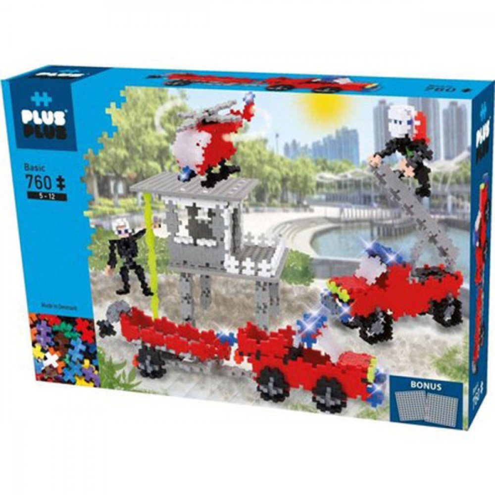 PLUS PLUS BOX BASIC 760 PCS SAUVETAGE
