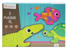 3 PUZZLES FORMES ANIMAUX A ECAILLES
