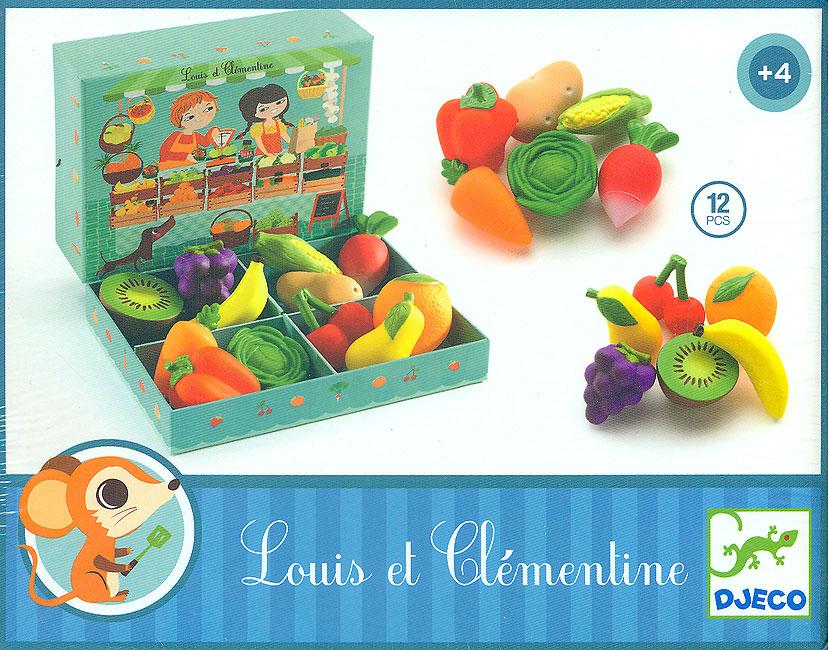 LOUIS ET CLEMENTINE -  12 PCS LEGUMES FRUITS