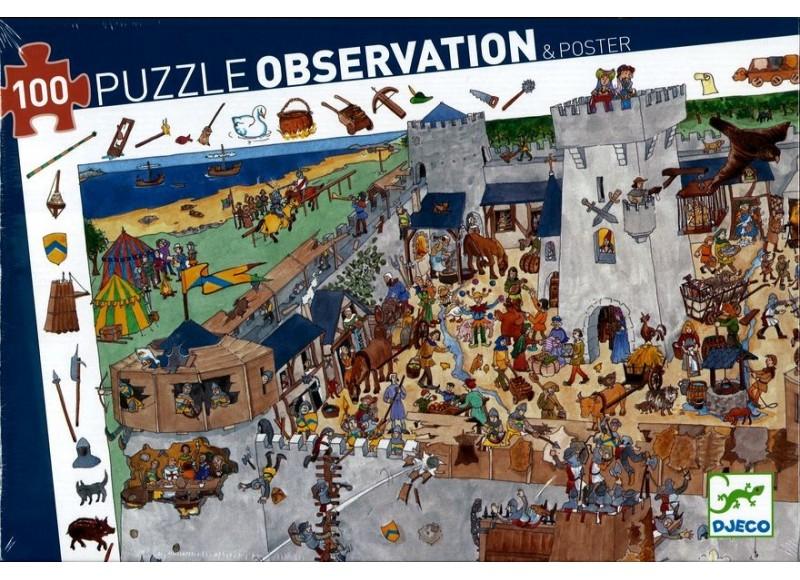 PUZZLE D'OBSERVATION LE CHATEAU FORT - 100 PCS