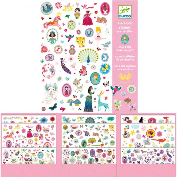 1000 STICKERS FILLE