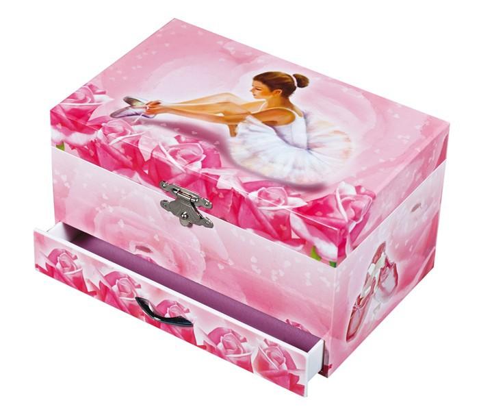 BOITE A BIJOUX MUSICALE BALLERINE ROSE