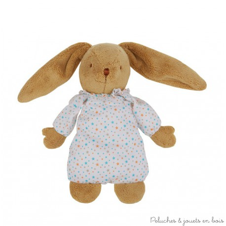 LAPIN MUSICAL NID D'ANGE ETOILES 25 CM