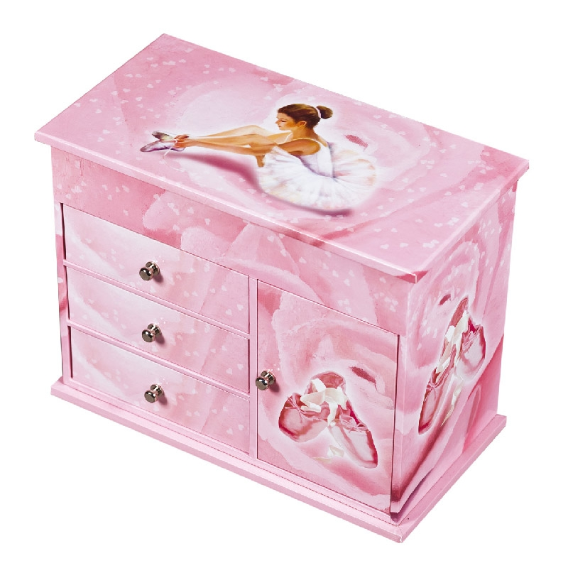 COMMODE MUSICALE A MUSIQUE BALLERINE ROSE