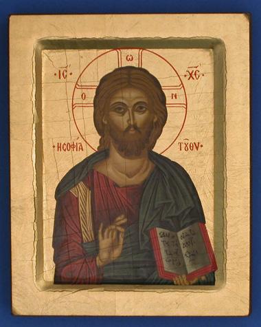 ICONE CHRIST SANS BORD CREUX