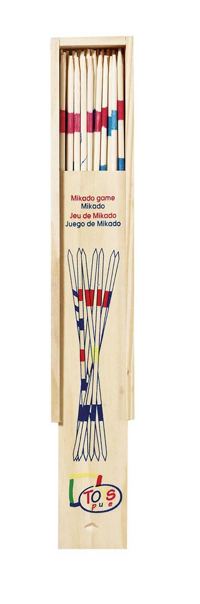 JEU DE MIKADO, PETIT MODELE, BOITE EN BOIS, A LA PIECE