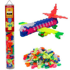 PLUS PLUS TUBE 100 PCS NEON MIX