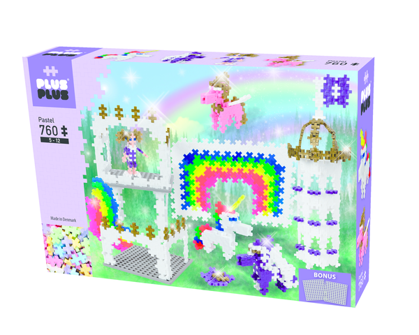 PLUS PLUS BOX PASTEL 760 PCS LICORNE