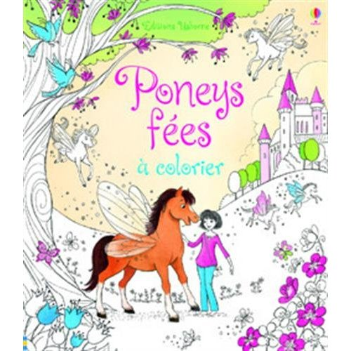 PONEY FEES A COLORIER