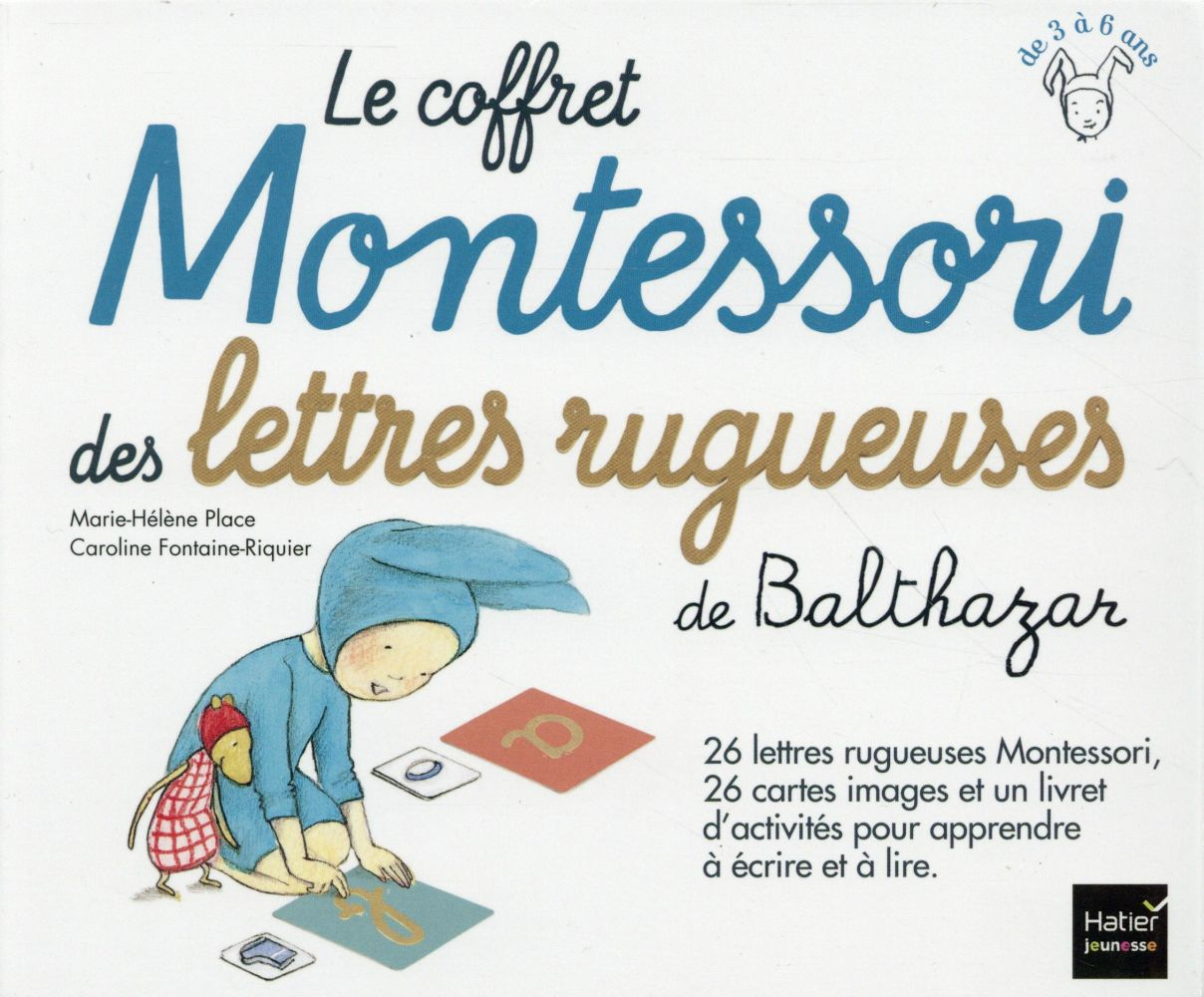 LE COFFRET MONTESSORI DES LETTRES RUGUEUSES DE BALTHAZAR - PEDAGOGIE MONTESSORI