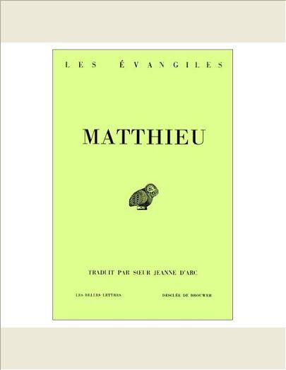 MATTHIEU LES EVANGILES BIBLINGUEGREC FRANCAIS