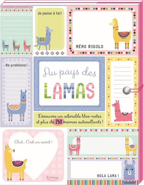 MES PETITS MESSAGES - AU PAYS DES LAMAS (COLL. CARNETS ET PETITS PAPIERS) - UN BLOC-NOTES ET PLUS DE