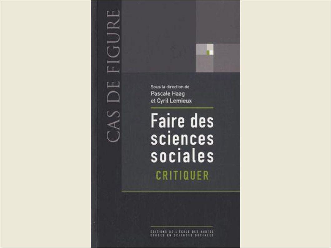 FAIRE DES SCIENCES SOCIALES CRITIQUER
