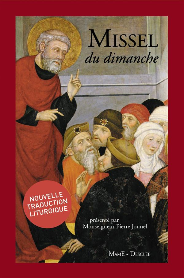 MISSEL DU DIMANCHE - JOUNEL - NE - ROUGE GRENAT - TRANCHE DOREE