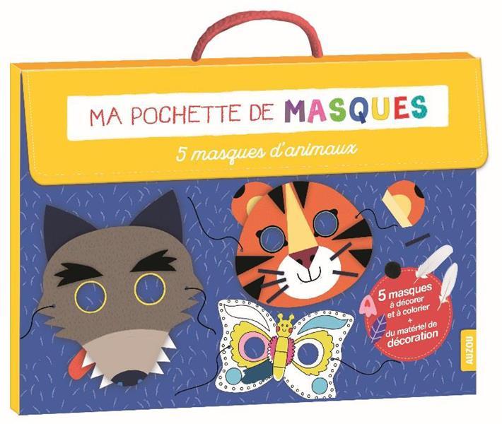 MA POCHETTE DE MASQUES - 5 MASQUES D'ANIMAUX