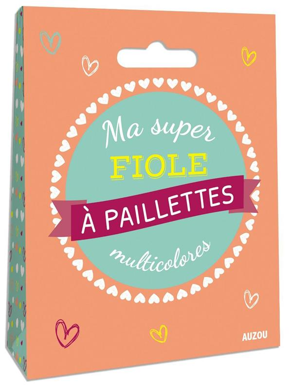 MA SUPER FIOLE A PAILLETTES MULTICOLORES