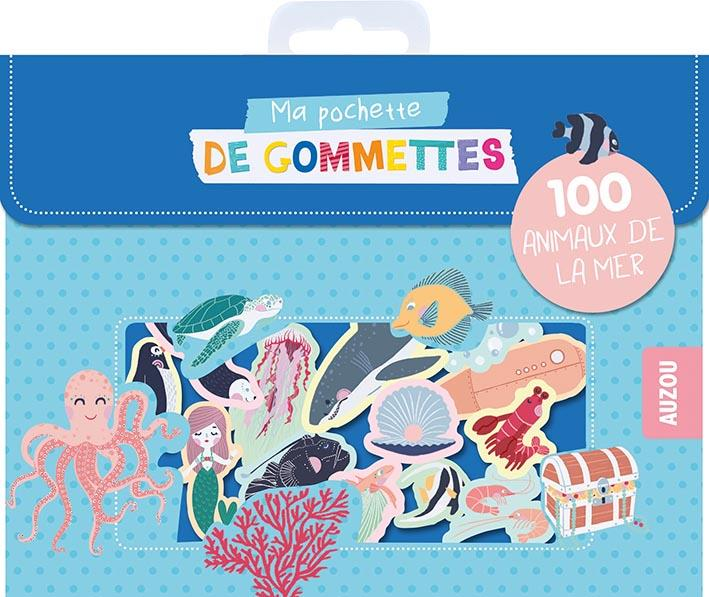 MA POCHETTE DE GOMMETTES - 100 ANIMAUX DE LA MER