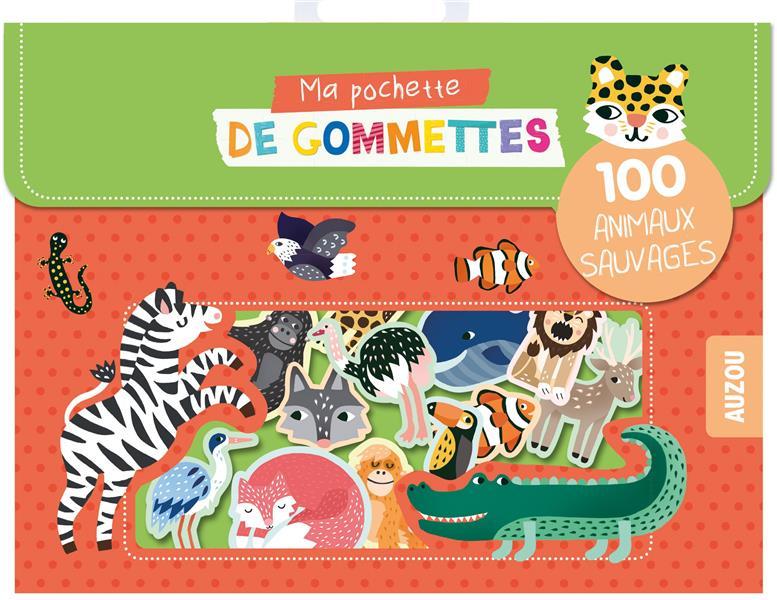 MA POCHETTE DE GOMMETTES - 100 ANIMAUX SAUVAGES