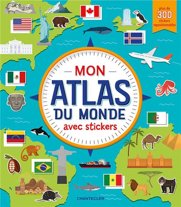 MON ATLAS DU MONDE AVEC STICKERS