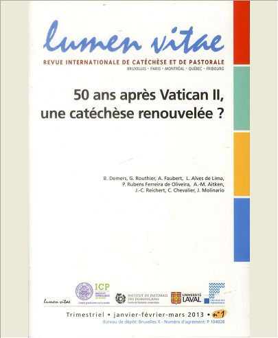 50 ANS APRES VATICAN II, UNE CATECHESE RENOUVELEE ?