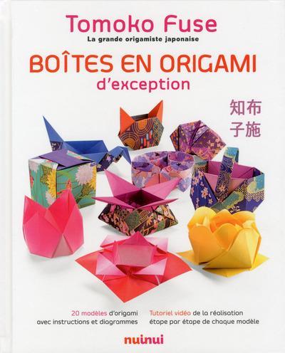 BOITES EN ORIGAMI D'EXCEPTION