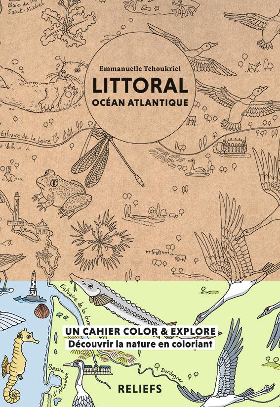 LITTORAL OCEAN ATLANTIQUE - CAHIER A COLORIER